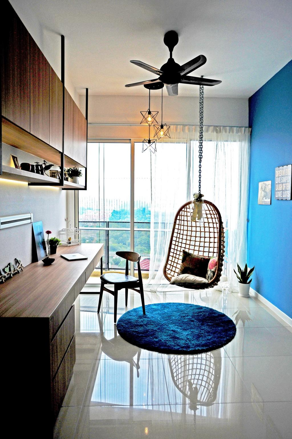 Modern, Condo, Study, Casa Green - Cheras, Interior Designer, Spazio Design Sdn Bhd, Minimalistic, Human, People, Person, Chair, Furniture, Dining Room, Indoors, Interior Design, Room, Bowl