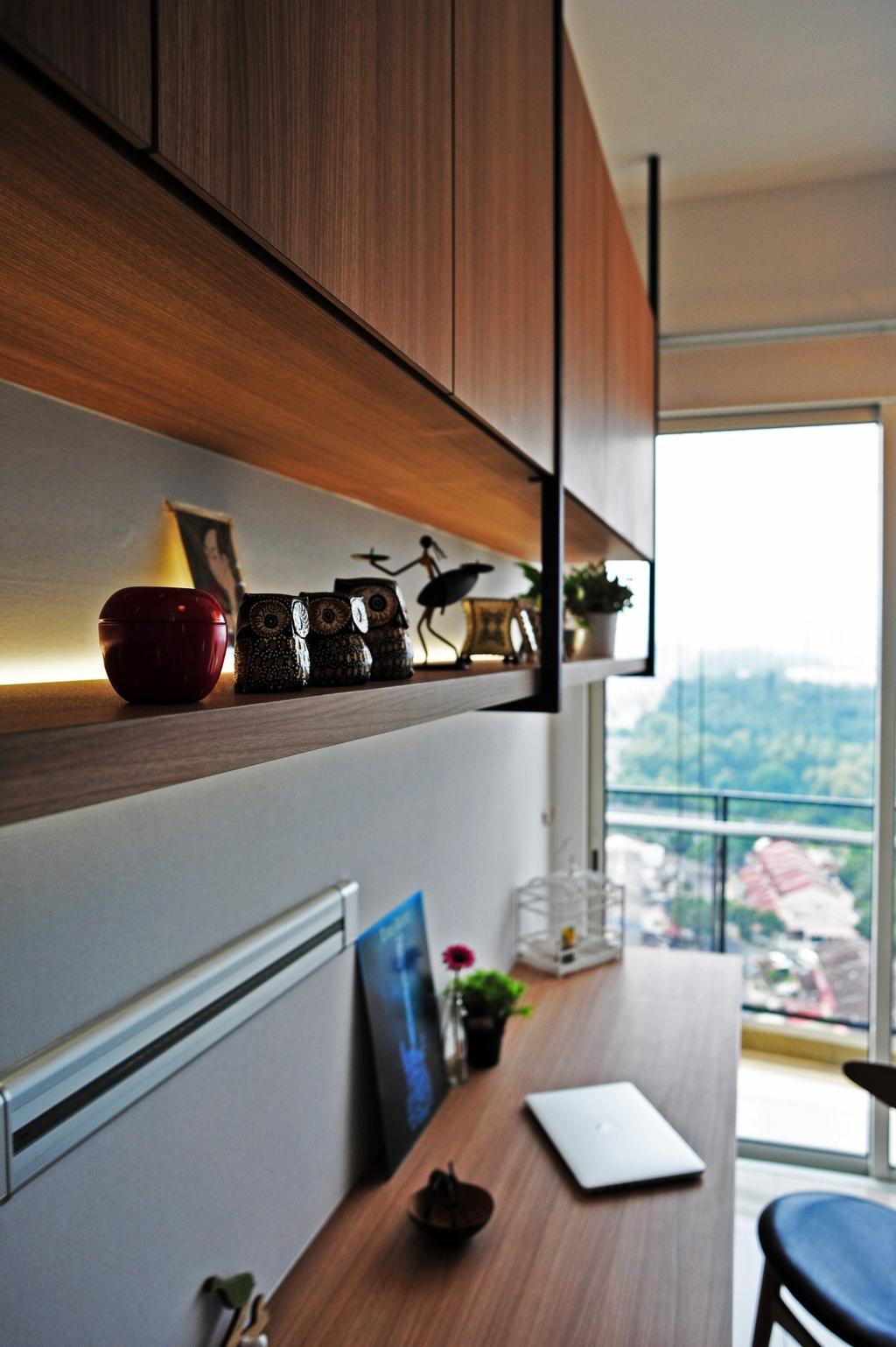 Modern, Condo, Study, Casa Green - Cheras, Interior Designer, Spazio Design Sdn Bhd, Minimalistic, Door, Sliding Door