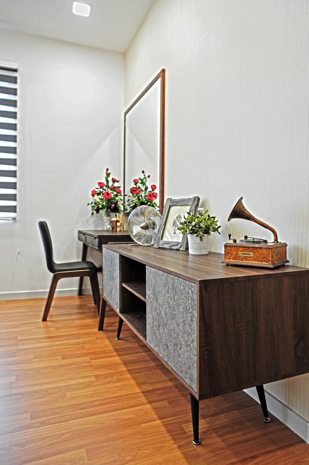 Modern, Condo, Bedroom, Casa Green - Cheras, Interior Designer, Spazio Design Sdn Bhd, Minimalistic, Chair, Furniture, Bench