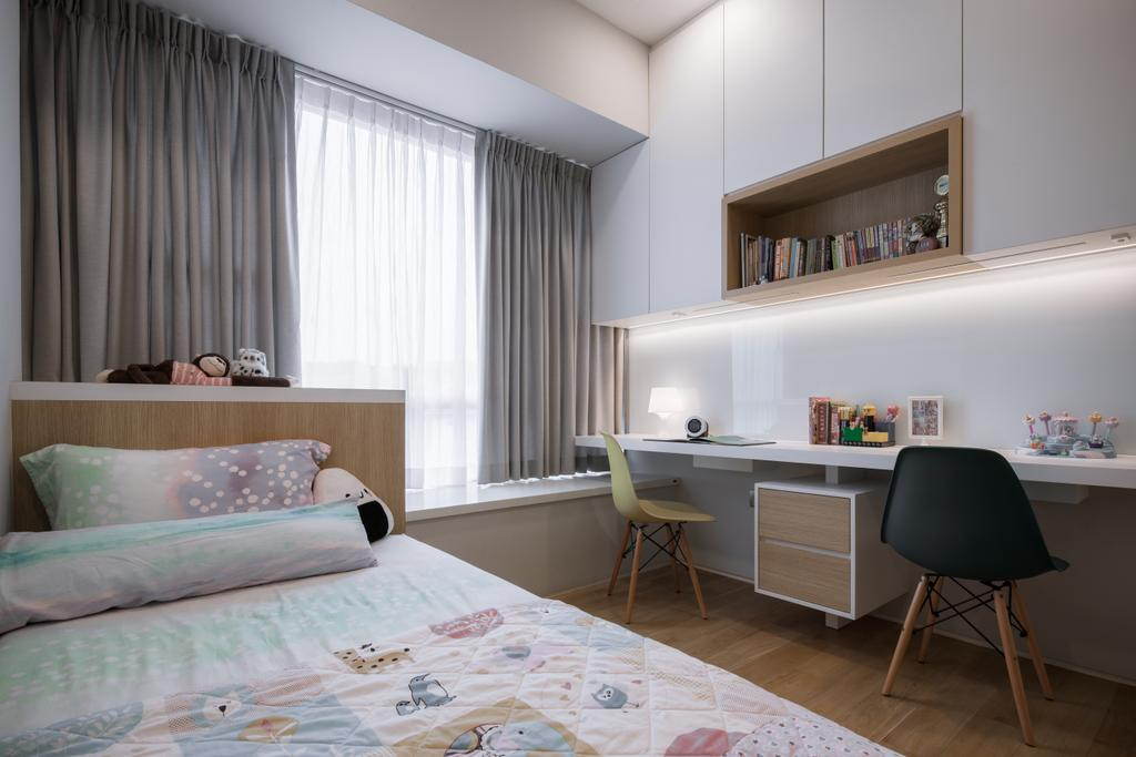 Modern, Condo, Bedroom, The Sorrento, Interior Designer, Posh Home, Scandinavian, Indoors, Interior Design, Room, Bed, Furniture, Chair