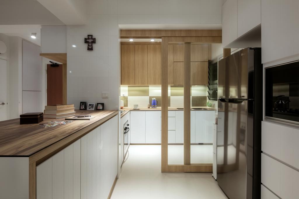 Modern, HDB, Kitchen, Sumang Walk (Block 217), Interior Designer, Posh Home, Scandinavian, Indoors, Interior Design, Room