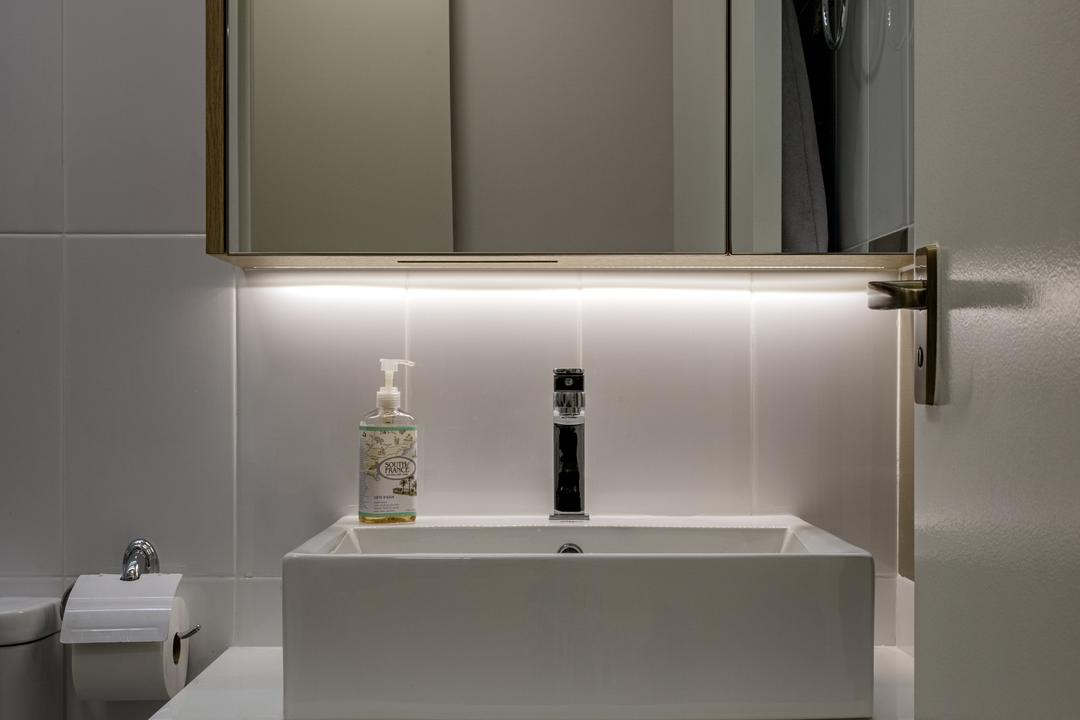 Sumang Walk (Block 217), Posh Home, Modern, Scandinavian, Bathroom, HDB, Paper, Paper Towel, Tissue, Towel