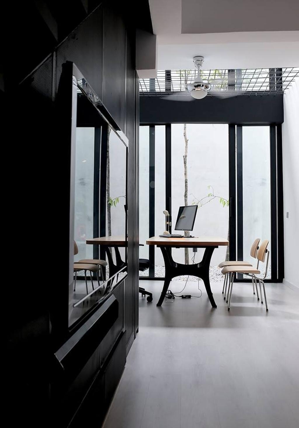Contemporary, Landed, Kinrara, Interior Designer, Core Design Workshop, Modern, Chair, Furniture, Dining Table, Table