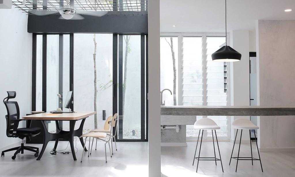 Contemporary, Landed, Kinrara, Interior Designer, Core Design Workshop, Modern, Dining Table, Furniture, Table, Bar Stool, Chair, Dining Room, Indoors, Interior Design, Room
