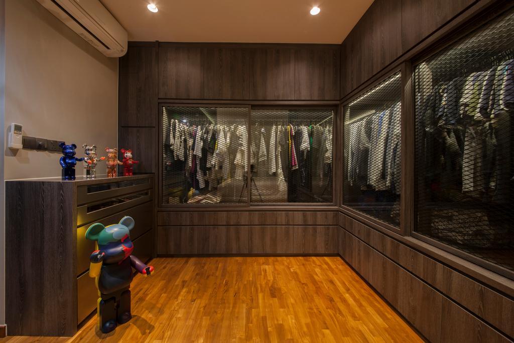 Eclectic, Condo, Bedroom, Twin Waterfalls, Interior Designer, Ascenders Design Studio, Human, People, Person, Robot, Hardwood, Wood