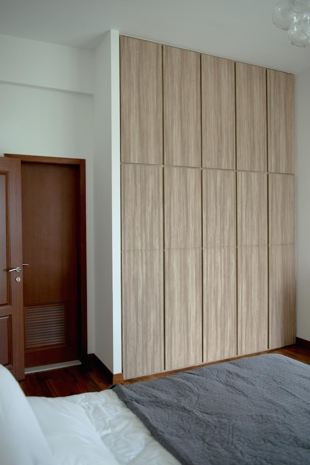Contemporary, Condo, Bedroom, Holland Hill, Interior Designer, Dyel Design, Wooden Laminate, Storage, Wooden Door, Door, Folding Door, Hardwood, Stained Wood, Wood