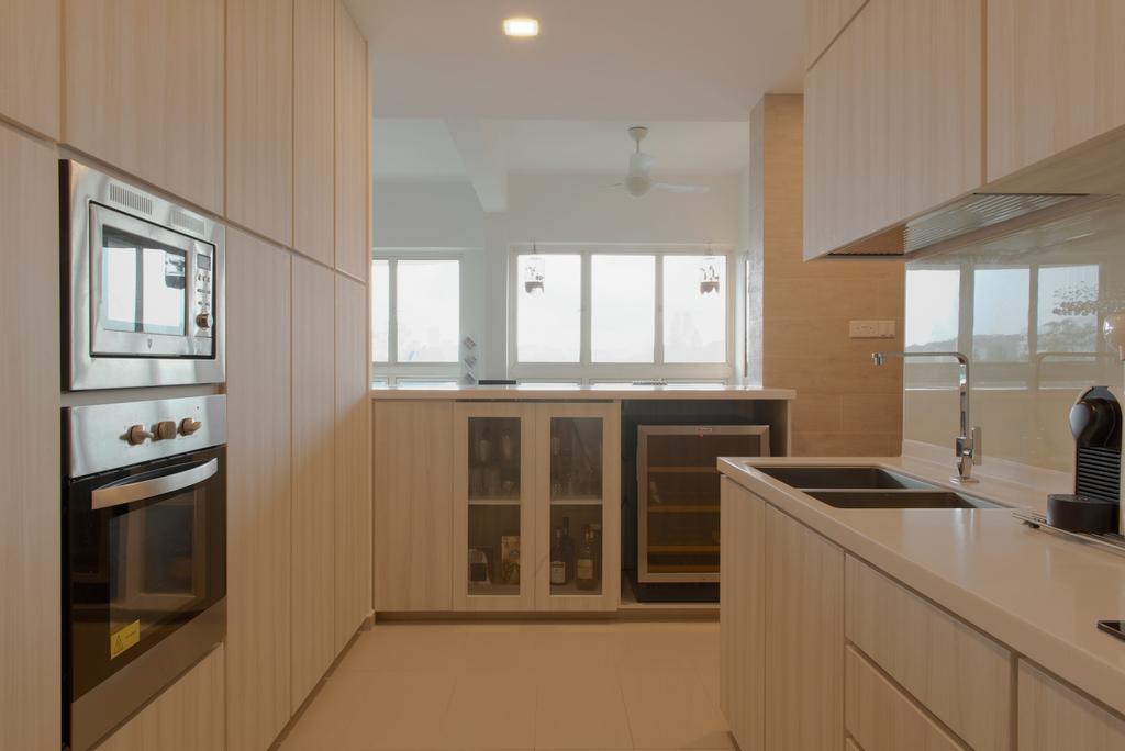 Contemporary, Condo, Kitchen, Holland Hill, Interior Designer, Dyel Design, Wooden Laminate, Counter Top, Laminate, Indoors, Interior Design, Room