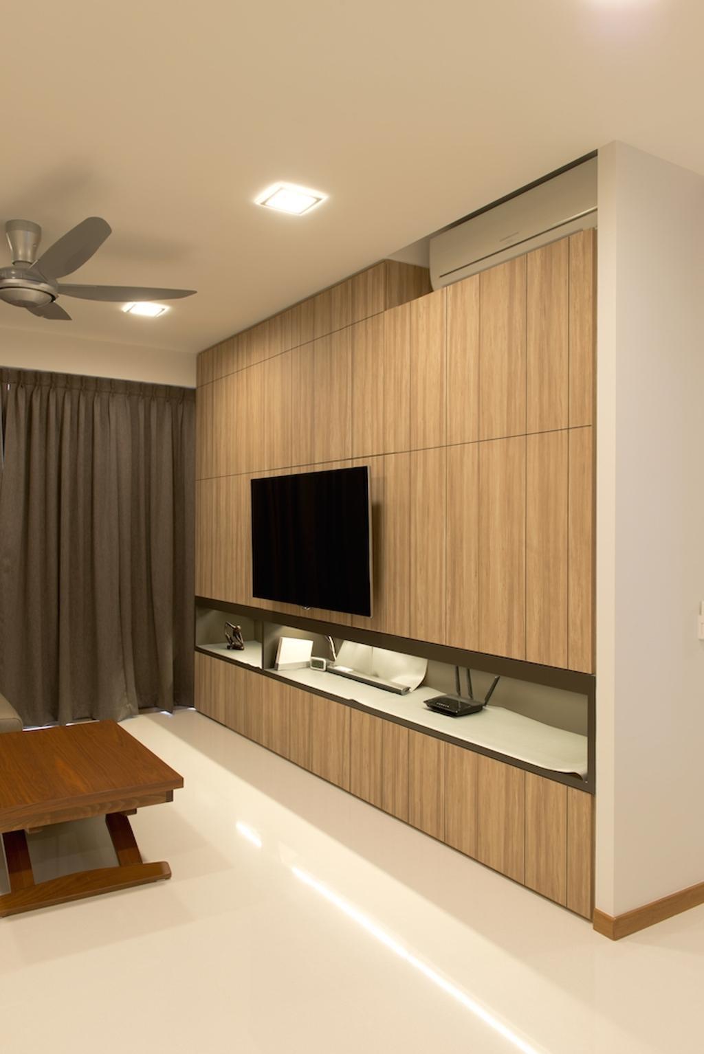 Scandinavian, Condo, Living Room, Waterfront Gold, Interior Designer, Dyel Design, Wooden Laminate, Laminate, Coffee Table, Indoors, Interior Design