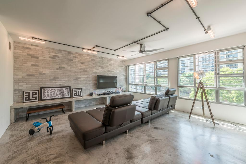 Scandinavian, HDB, Living Room, Upper Serangoon Crescent (Block 473C), Interior Designer, Voila, Retro, Couch, Furniture, Chair, Tripod