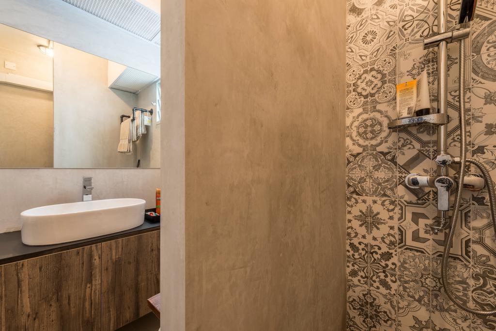 Scandinavian, HDB, Bathroom, Upper Serangoon Crescent (Block 473C), Interior Designer, Voila, Retro, Indoors, Interior Design, Room, Sink
