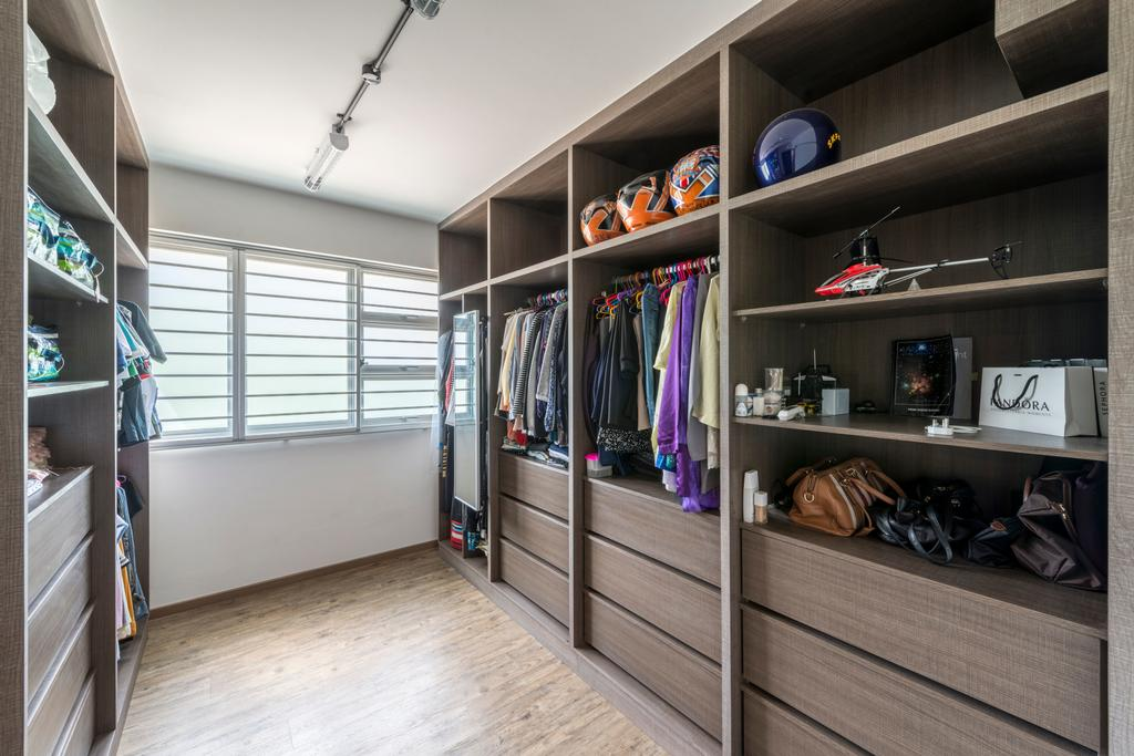 Scandinavian, HDB, Bedroom, Upper Serangoon Crescent (Block 473C), Interior Designer, Voila, Retro, Shelf