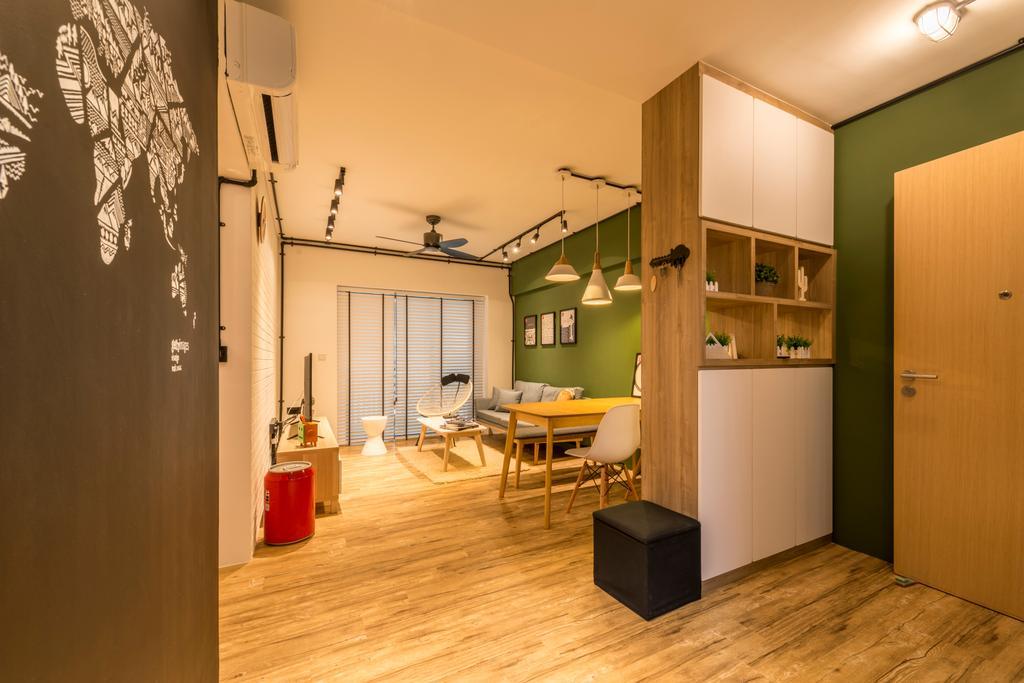 Eclectic, HDB, Living Room, Skyville @ Dawson, Interior Designer, Voila, Flooring, Indoors, Interior Design