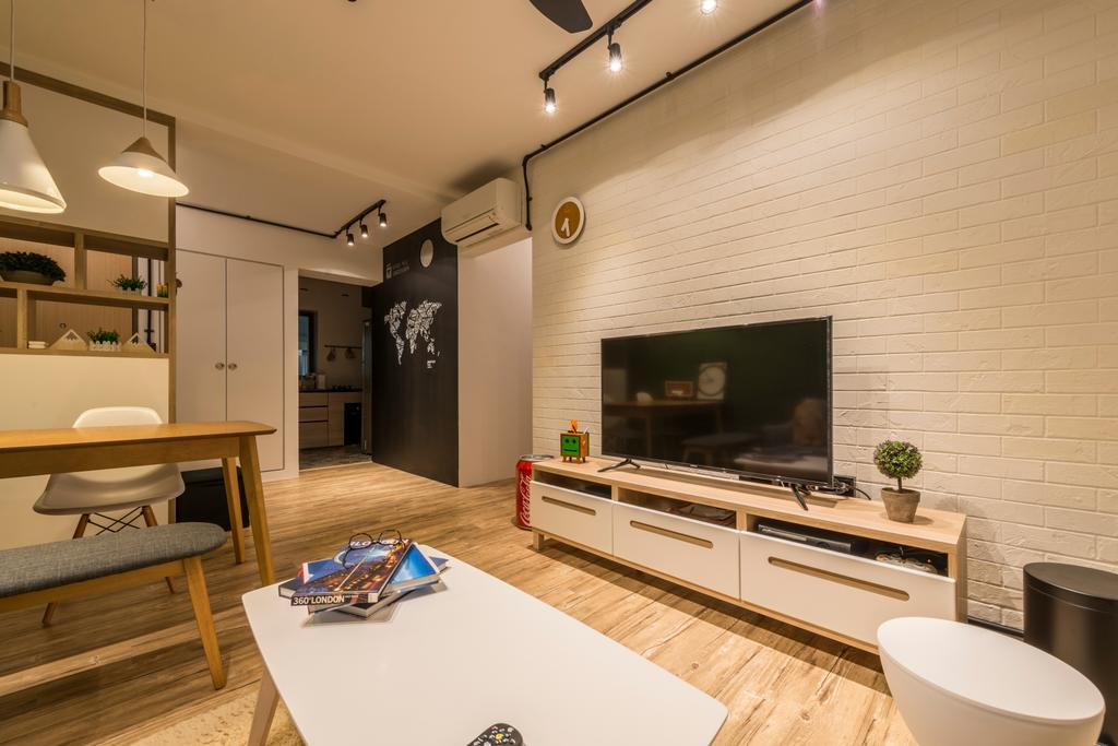 Eclectic, HDB, Living Room, Skyville @ Dawson, Interior Designer, Voila, Indoors, Interior Design
