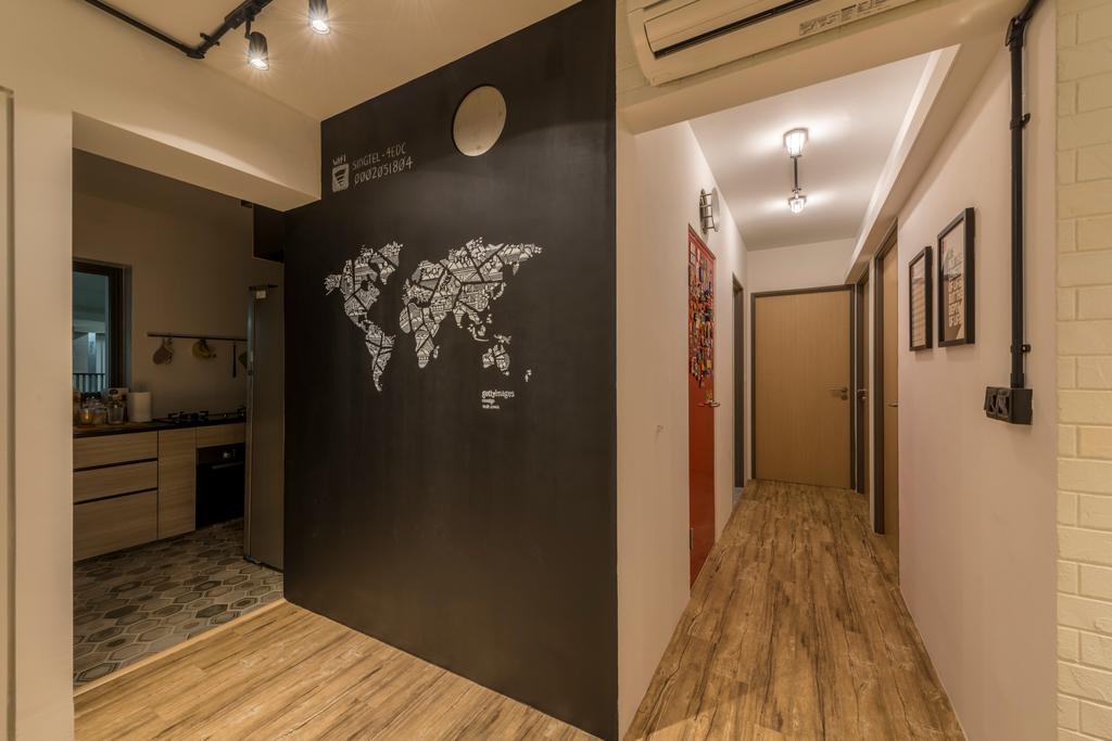 Eclectic, HDB, Bedroom, Skyville @ Dawson, Interior Designer, Voila, Corridor, Indoors, Interior Design
