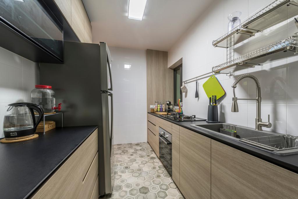 Eclectic, HDB, Kitchen, Skyville @ Dawson, Interior Designer, Voila