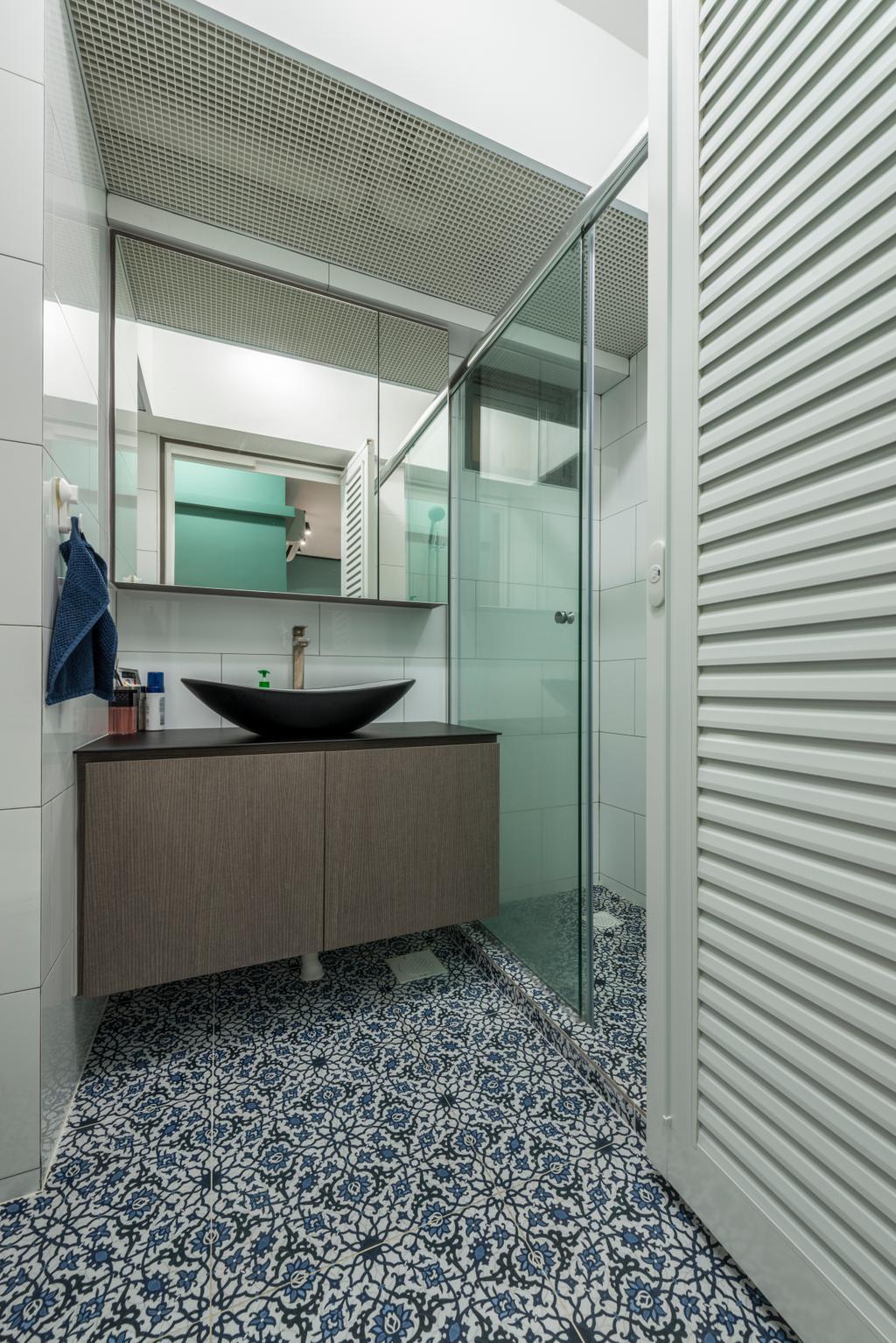 Eclectic, HDB, Bathroom, Skyville @ Dawson, Interior Designer, Voila, Sink