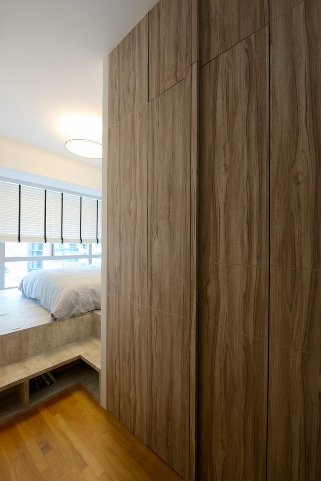 Scandinavian, Condo, Bedroom, Miltonia, Interior Designer, Dyel Design, Venetian Blinds, Wooden Laminate, Laminate, Parquet Flooring, Wooden Flooring
