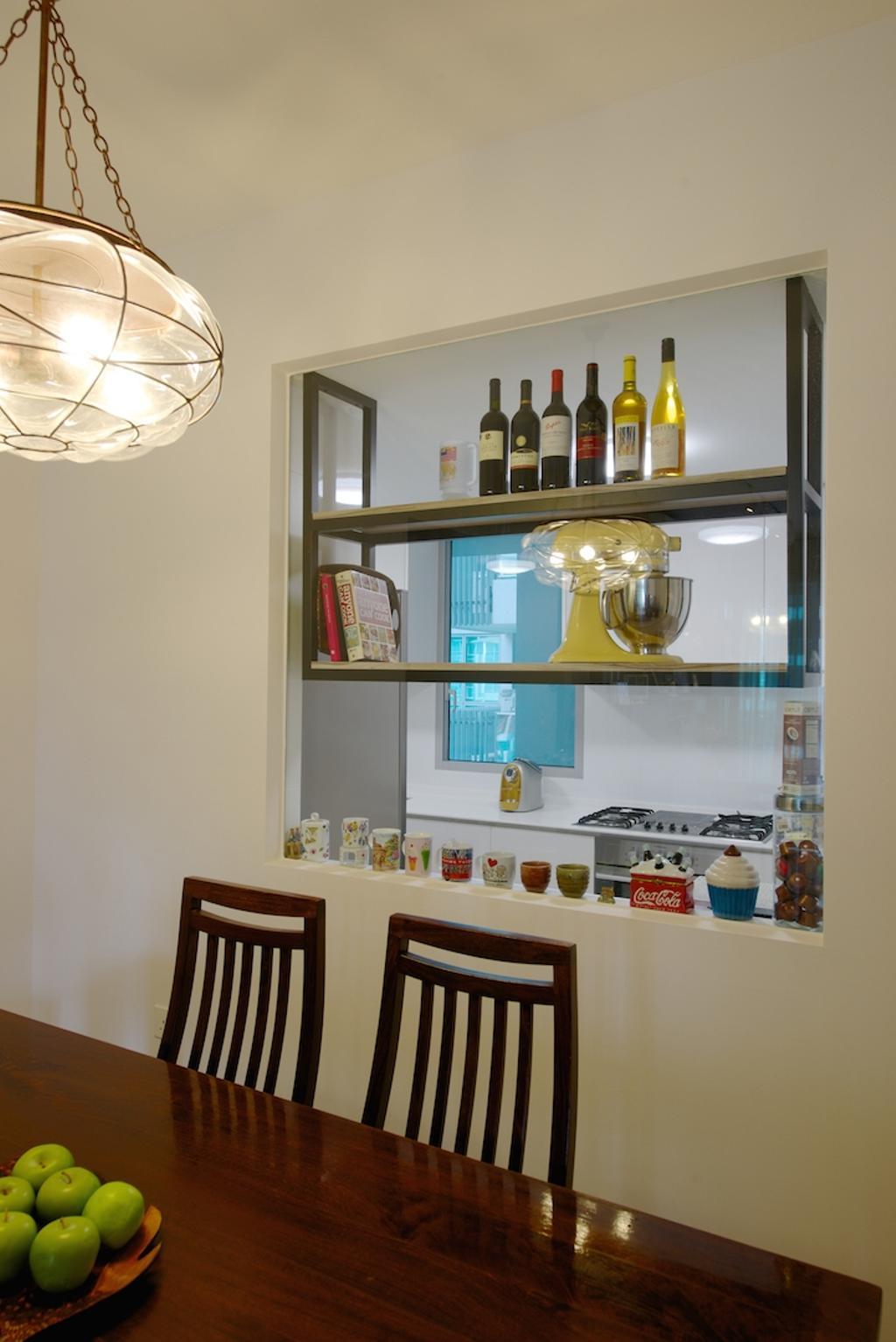Scandinavian, Condo, Dining Room, Miltonia, Interior Designer, Dyel Design, Hanging Light, Decorative Light, Wooden Chair, Dining Table, Wooden Table, Shelf, Indoors, Interior Design, Room