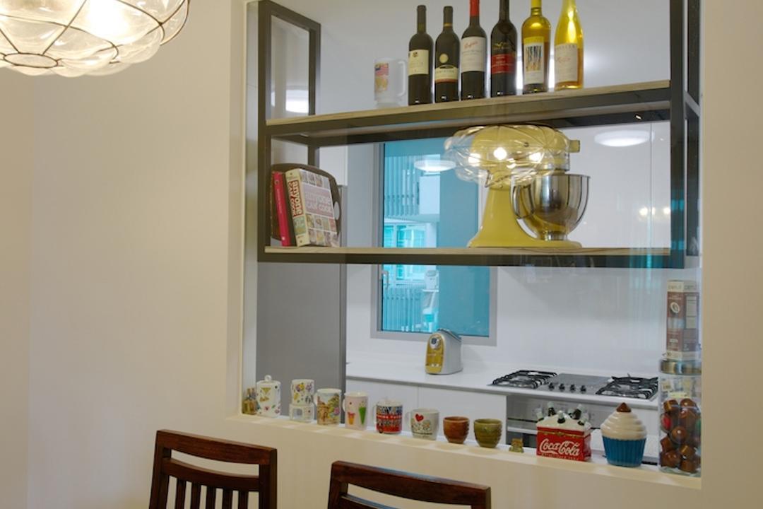 Miltonia, Dyel Design, Scandinavian, Dining Room, Condo, Hanging Light, Decorative Light, Wooden Chair, Dining Table, Wooden Table, Shelf, Indoors, Interior Design, Room