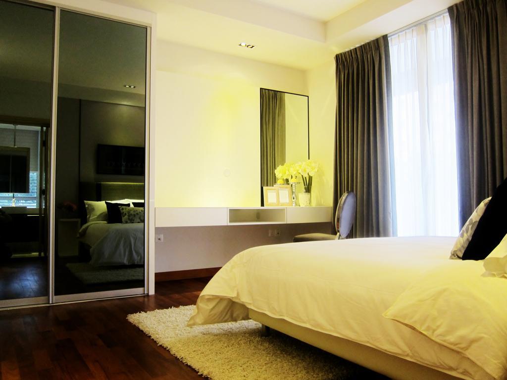 Modern, Condo, Bedroom, Holland 100, Interior Designer, Designe Couture, Curtains, Mirror, Carpet, Parquet Flooring, Wooden Floor, Wardrobe, Storage