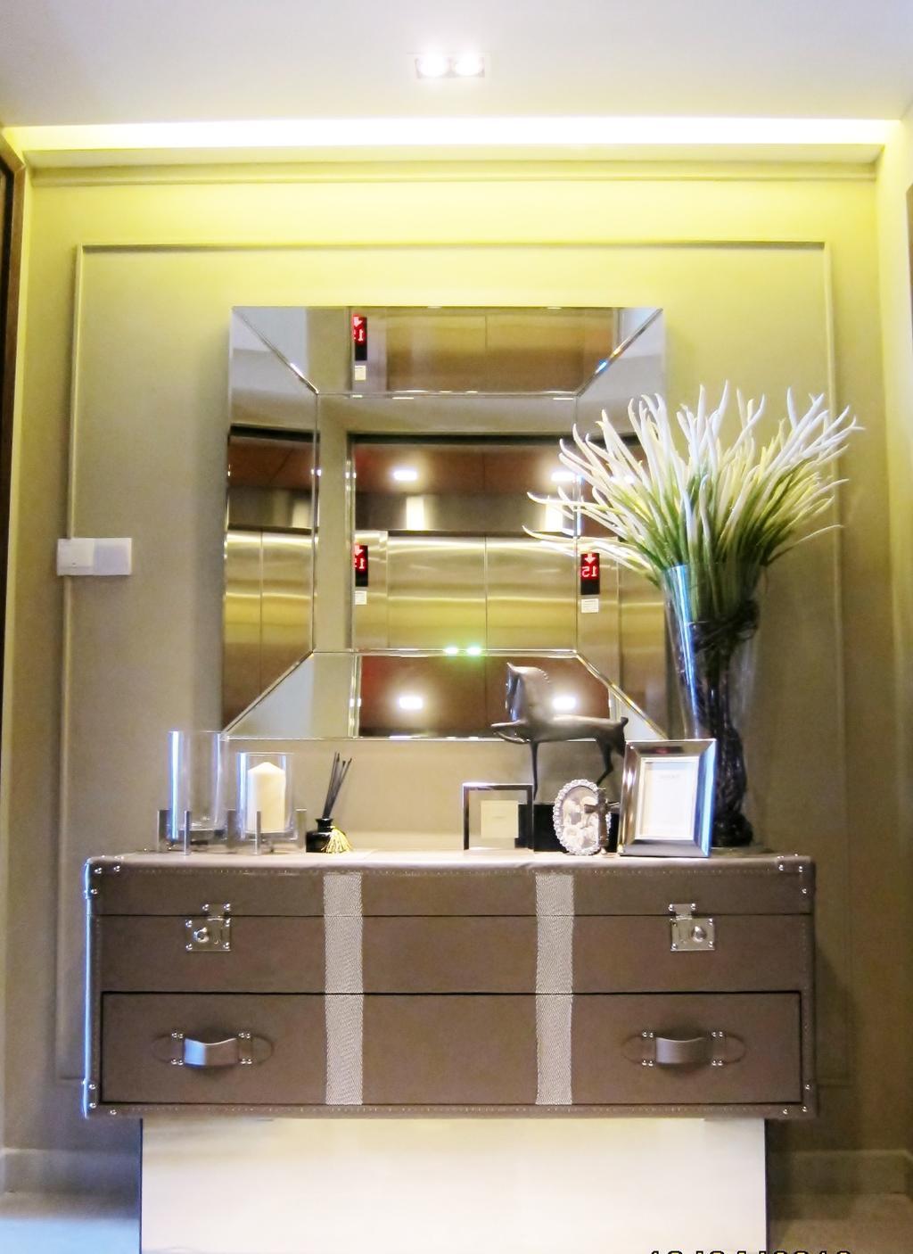 Modern, Condo, Living Room, Residences @ Evelyn, Interior Designer, Designe Couture, Dresser, Display, Spot Light, Concealed Lighting