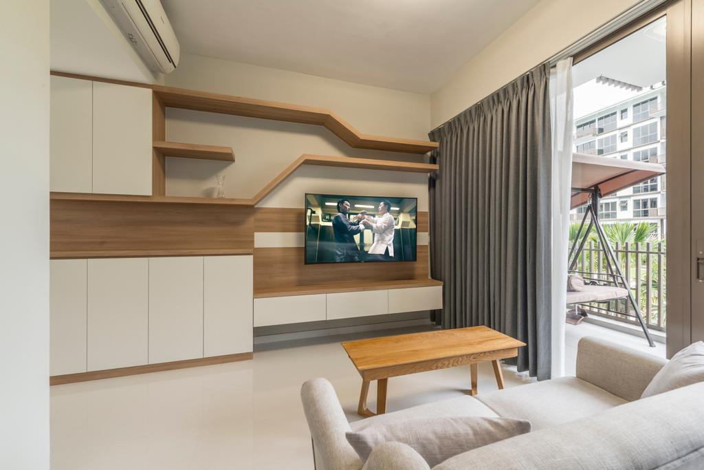 Scandinavian, Condo, Living Room, The Inflora, Interior Designer, Starry Homestead, Balcony, Chair, Furniture, Couch, Indoors, Interior Design