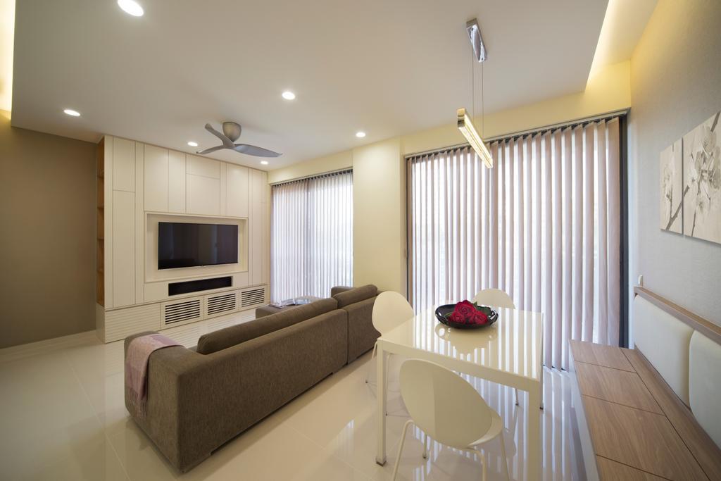 Modern, Condo, Living Room, Sky Habitat, Interior Designer, Yonder, Minimalistic, Electronics, Entertainment Center, Couch, Furniture, Indoors, Interior Design