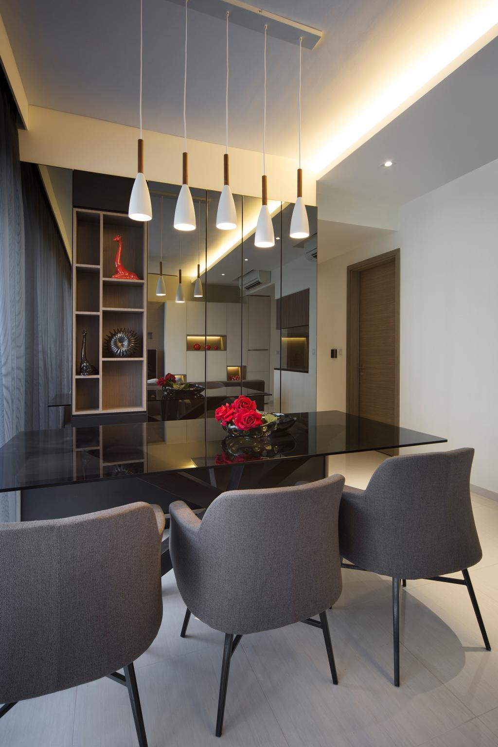 Modern, Condo, Dining Room, The Palette, Interior Designer, Yonder, Flora, Jar, Plant, Potted Plant, Pottery, Vase, Couch, Furniture, Indoors, Interior Design, Room, Chair, Appliance, Electrical Device, Oven