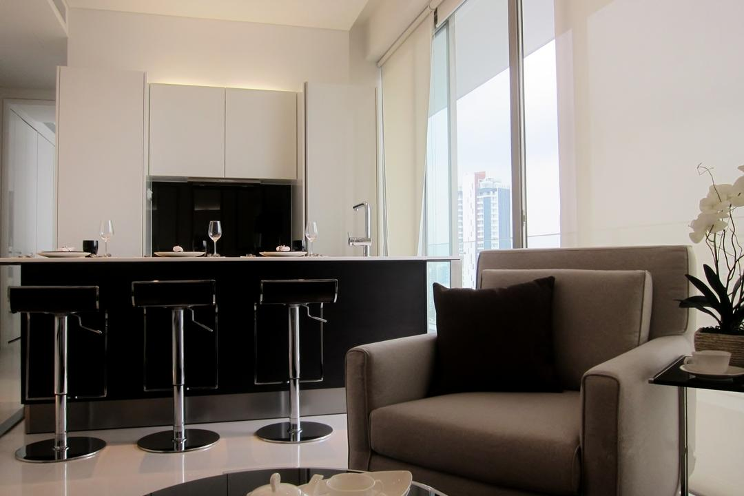 Scotts Square 1, Designe Couture, Modern, Kitchen, Condo, Arm Chair, Leather Arm Chair, High Chair, Barstool, Bar Stool, Laminate