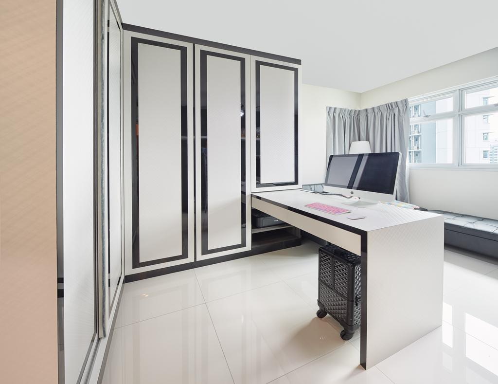 Modern, HDB, Study, Fernvale Rivergrove, Interior Designer, Absolook Interior Design