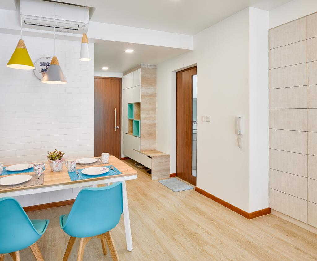 Eclectic, Condo, Dining Room, One Canberra, Interior Designer, Absolook Interior Design, Indoors, Interior Design, Lamp, Lampshade, Cone