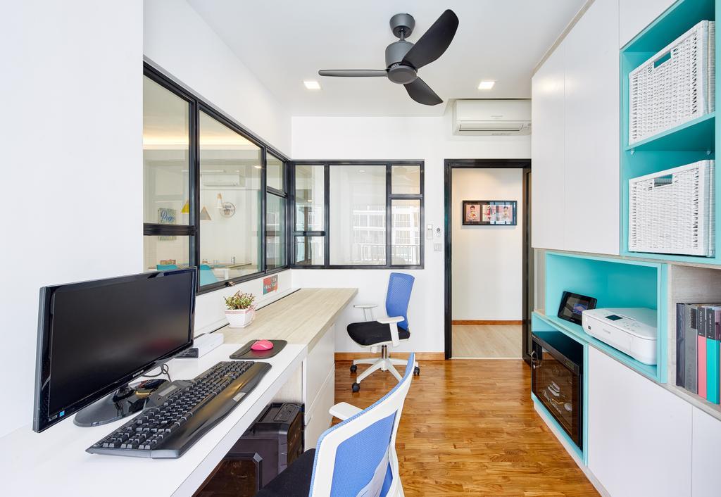 Eclectic, Condo, Study, One Canberra, Interior Designer, Absolook Interior Design, Propeller, Indoors, Interior Design