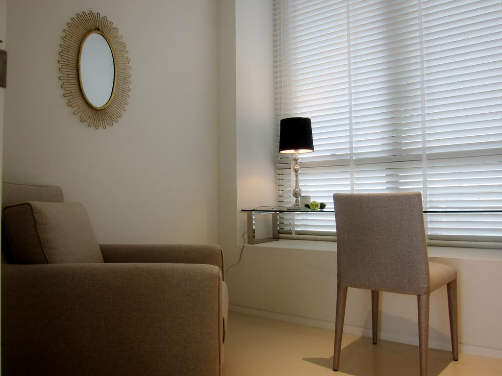 Modern, Condo, Study, Scotts Square 2, Interior Designer, Designe Couture, Venetian Blinds, Study Table, Armchair, Arm Chair, Study Lamp, Table Lamp