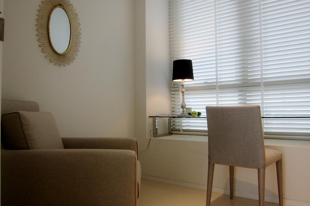 Scotts Square 2, Designe Couture, Modern, Study, Condo, Venetian Blinds, Study Table, Armchair, Arm Chair, Study Lamp, Table Lamp