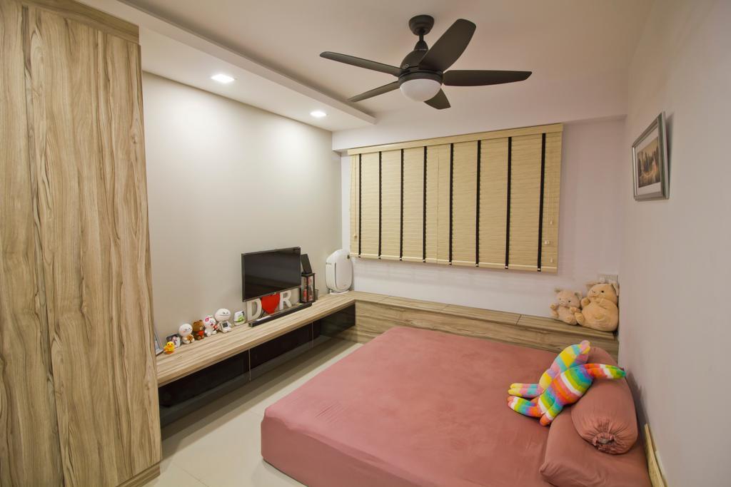 Modern, HDB, Bedroom, Punggol Drive (Block 664B), Interior Designer, MET Interior, Logo, Trademark