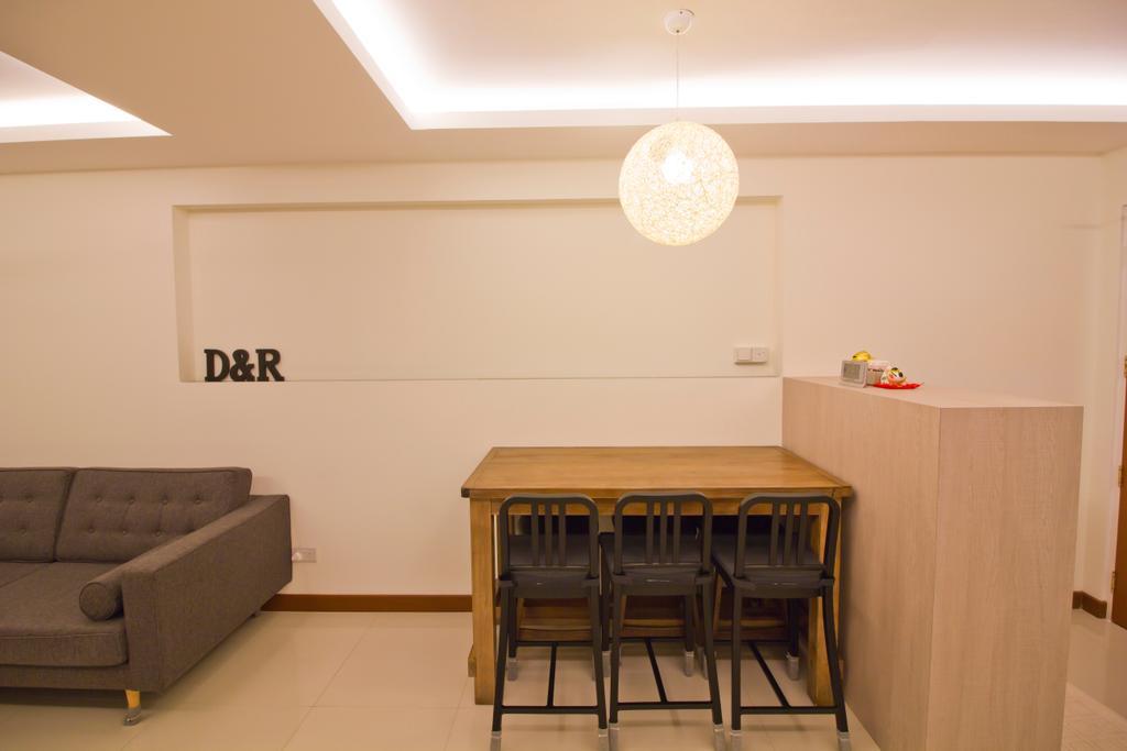 Modern, HDB, Dining Room, Punggol Drive (Block 664B), Interior Designer, MET Interior, Couch, Furniture, Dining Table, Table, Indoors, Interior Design, Room, Chair