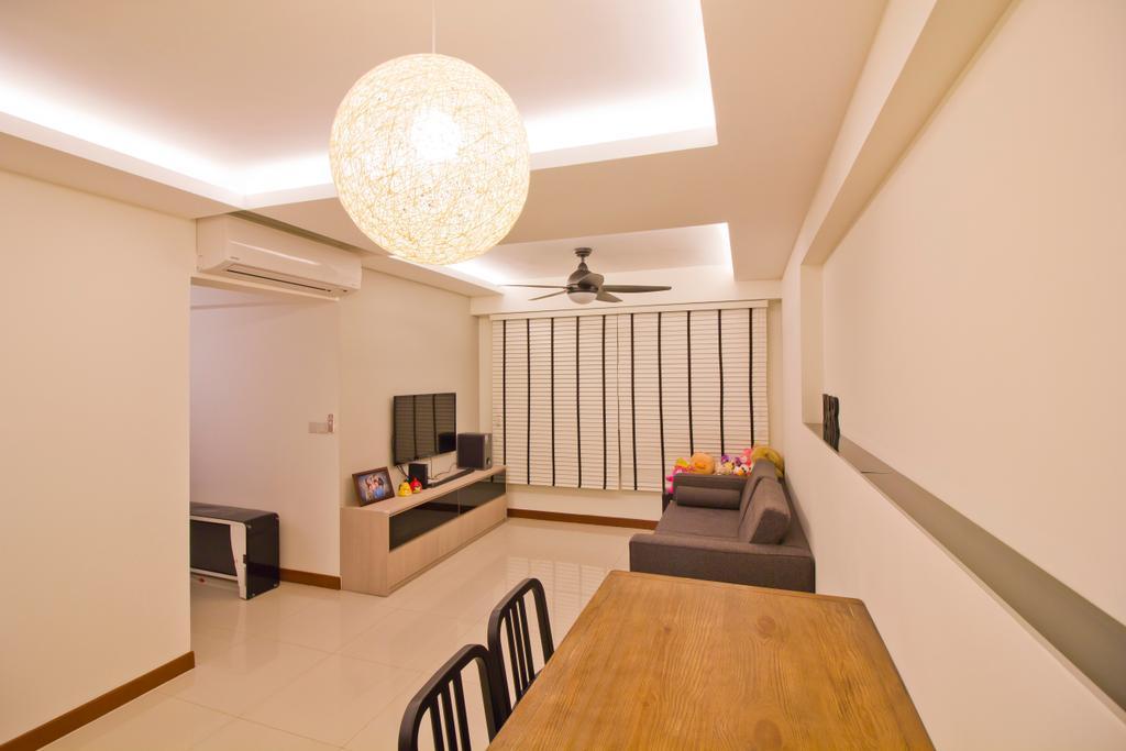 Modern, HDB, Dining Room, Punggol Drive (Block 664B), Interior Designer, MET Interior, Plywood, Wood, Indoors, Interior Design, Banister, Handrail, Room