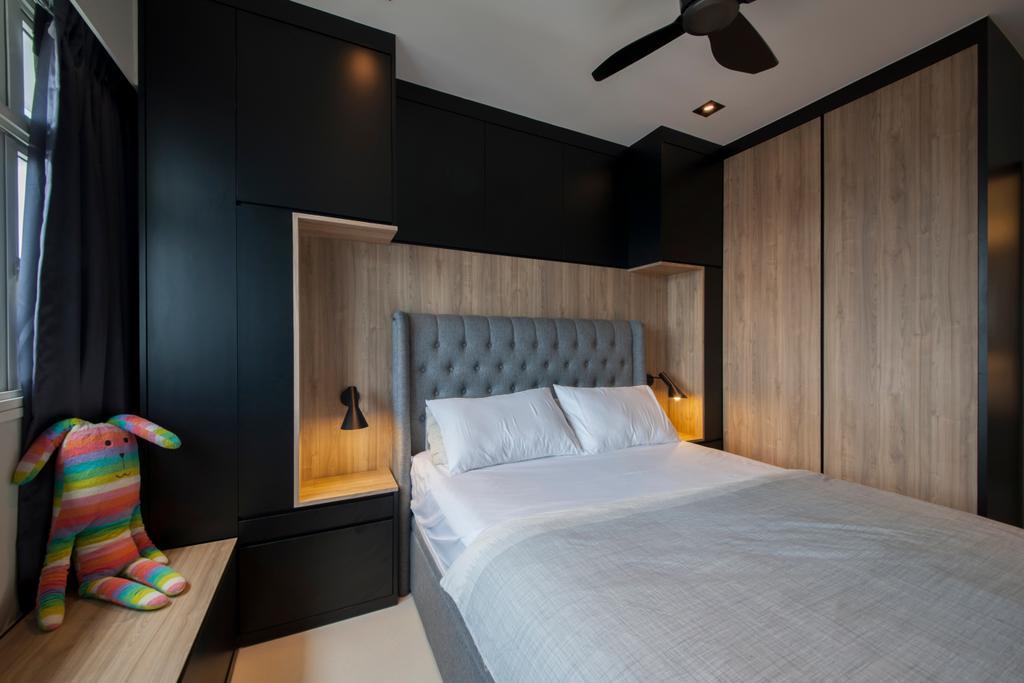 Contemporary, HDB, Bedroom, Punggol Drive (Block 663A), Interior Designer, Posh Home, Bed, Furniture, Indoors, Interior Design, Room