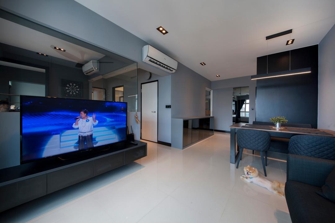 Punggol Drive (Block 663A) Living Room Interior Design 8