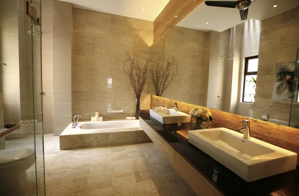 Contemporary, Landed, Bathroom, Kiara View Phase 4 Show House, Interior Designer, Hoe & Yin Design Studio, Sink, Indoors, Interior Design, Room, Toilet