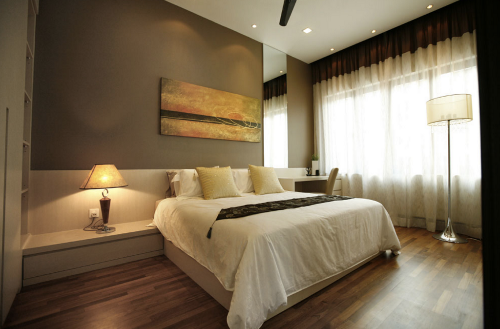 Contemporary, Landed, Bedroom, Kiara View Phase 4 Show House, Interior Designer, Hoe & Yin Design Studio, Bed, Furniture, Apartment, Building, Housing, Indoors, Loft