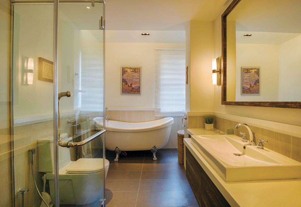 Scandinavian, Landed, Bathroom, Jalan Semantan, Semi-D, Interior Designer, Hoe & Yin Design Studio, Modern, Sink, Toilet, Indoors, Interior Design, Room, Blender, Mixer