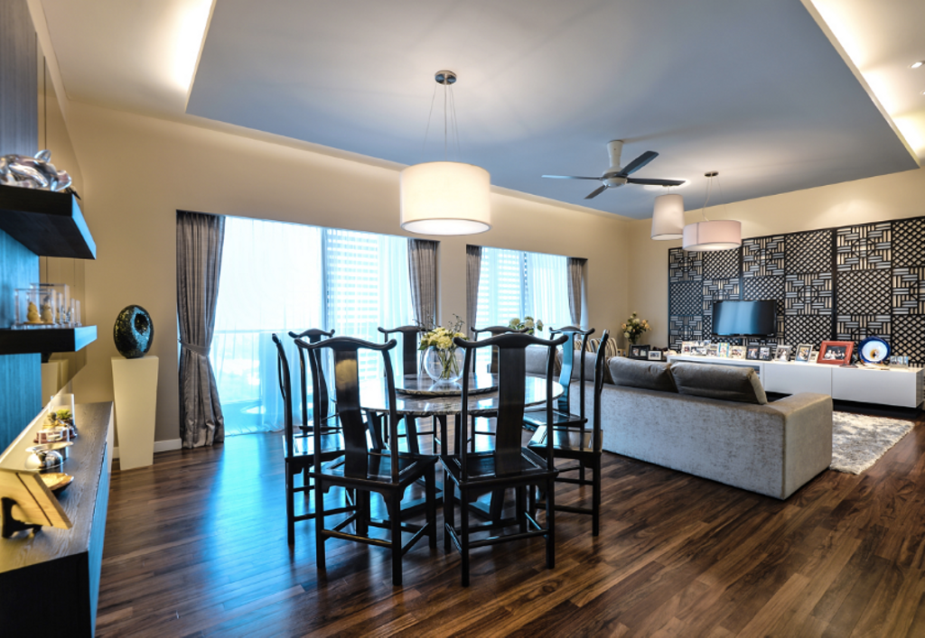 Modern, Landed, Dining Room, Zehn, Bukit Pantai, Interior Designer, Hoe & Yin Design Studio, Chair, Furniture, Hardwood, Wood, Indoors, Interior Design, Room, Dining Table, Table