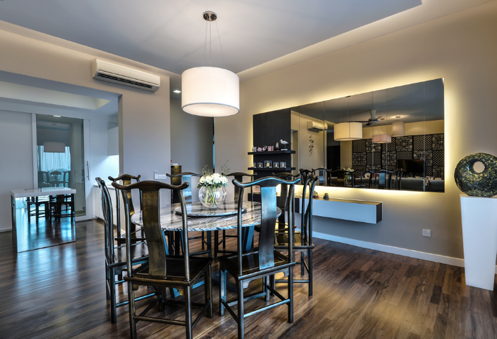 Modern, Landed, Dining Room, Zehn, Bukit Pantai, Interior Designer, Hoe & Yin Design Studio, Chair, Furniture, Indoors, Interior Design, Room, Dining Table, Table