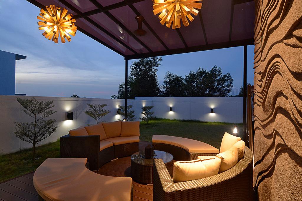 Modern, Landed, Garden, Semi-D@ Kinrara Residence Ambrosia, Interior Designer, Torch Empire, Contemporary, Couch, Furniture, Flora, Plant, Tree, Chair