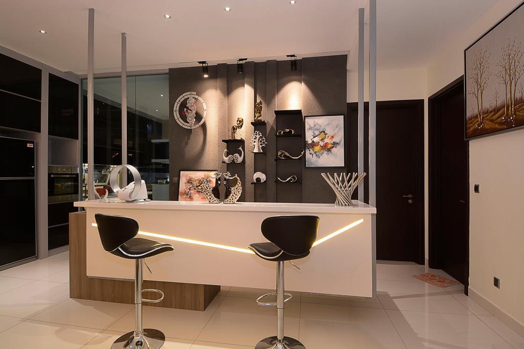 Modern, Landed, Living Room, Semi-D@ Kinrara Residence Ambrosia, Interior Designer, Torch Empire, Contemporary, Chair, Furniture, Indoors, Interior Design