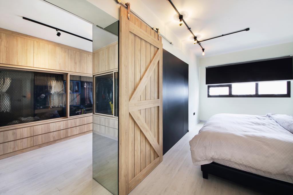 Industrial, HDB, Bedroom, Yishun Street 31, Interior Designer, Ascenders Design Studio, Scandinavian, Indoors, Interior Design