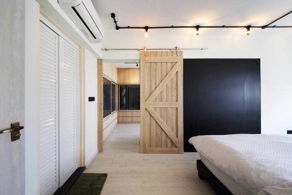 Industrial, HDB, Bedroom, Yishun Street 31, Interior Designer, Ascenders Design Studio, Scandinavian