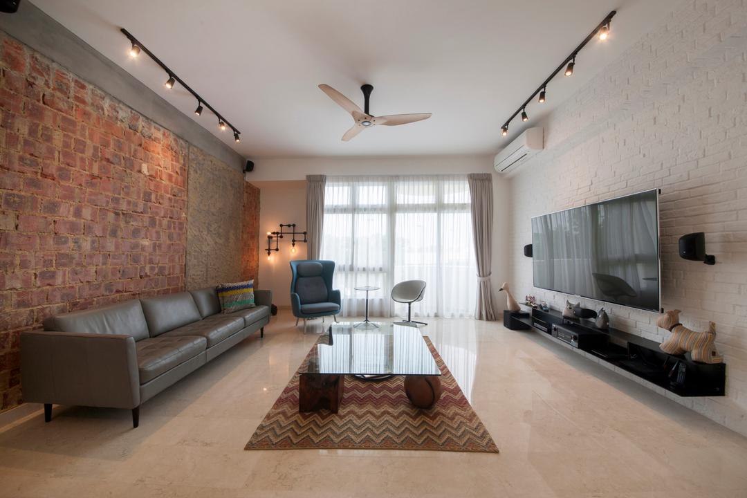 28 Parbury Avenue, Prozfile Design, Eclectic, Living Room, Condo,  Widescreen Tv