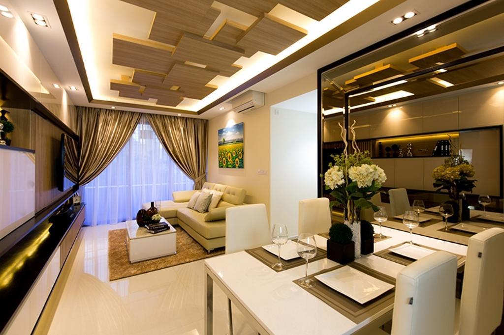 Modern, Condo, Dining Room, Prive, Interior Designer, Thom Signature Design, Wood Ceiling